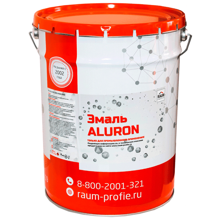 Enamel on metal ALURON